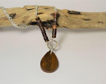 Wooden Drop Pendant
