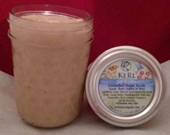 Soft & Silky Emulsified Sugar Scrub Scented with Butt Naked in Bed.