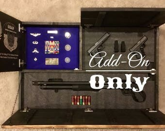 Add-On for Large Concealed Weapon Flag Cabinet 3rd Compartment with Foam (Flag Purchased Separately)
