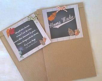 2 bags gift 21 x 12 autumn taggies