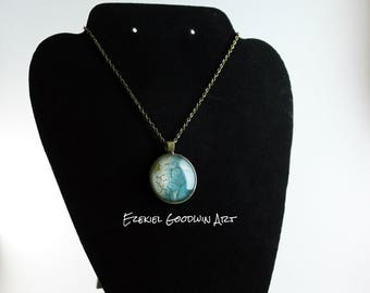 Shore Oil Painting Necklace