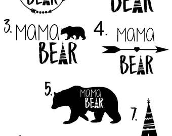 Mama Bear Decals | Car Decals | Yeti Tumbler Decals