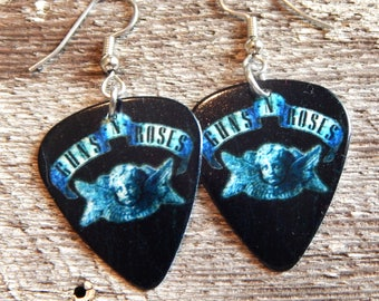 Custom Handmade Guitar Pick Earrings -  GUNS N ROSES