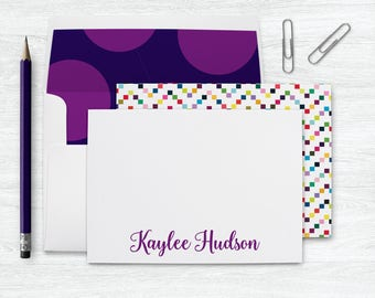 Kids Personalized Stationary Cards, Kids Stationery Set, Thank you Cards Kids Stationary Personalized Thank you Note Cards with Envelopes