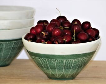 Handmade Ceramic Bowl, Pottery Bowl, Cereal, Noodle Soup Bowl, Dipping Bowl