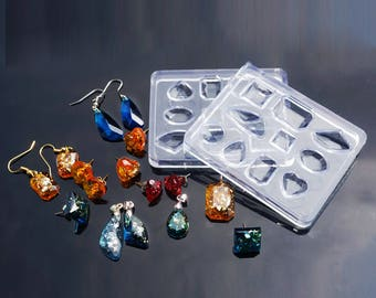 1pc 10 Shape Silicone Resin Mold 75x60mm (B293g)