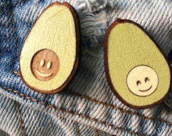 Avocuddles Avocados Pin Set | Handmade Avocado Friendship Pins