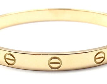 18Karat Yellow Gold Inspired (Love bangle) with Stainless Steel Scrow Driver