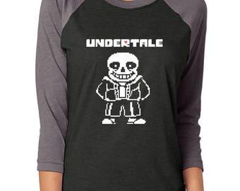 Undertale, unisex raglan tee, fashion tee, gamer, clothing, tops and tees, cosplay, woman's cute t-shirt