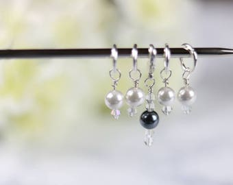 Stitch Markers,  Pearl Stitch Markers, Knitting Stitch Markers