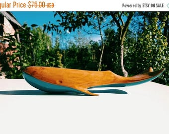 Wooden Whale,Carved Statue,Sea Creature,Carving,Handmade Gift,Wood Art,Wooden Animal,Whale Statuette by Yurii Myketka