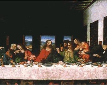 """Patrón de Punto de Cruz: """"La ultima Cena"""" de Leonardo Da Vinci"""