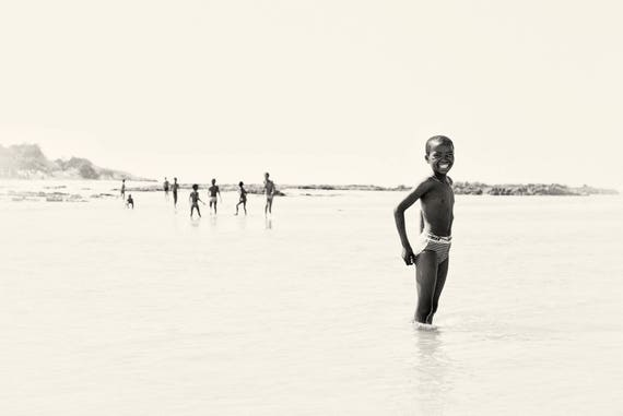 RIVER BOYS. African Boy, South Africa, Black and White Print, Limited Edition,Large Print