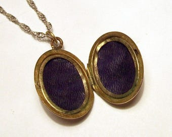 Victorian Rolled Gold Locket Hercules Antique Pendant Vintage Double Sided Oval Etched