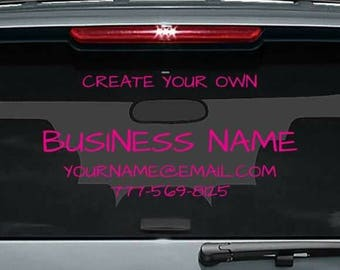 Business Decal Etsy - Make your own decal for car