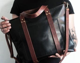 Womens leather bag, womens tote, leather tote bag, leather handbag, mens leather bag, womens shoulder bag, tote bag purse, crossbody bag men