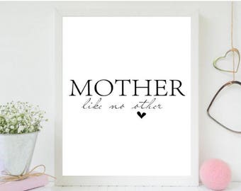 A4 print, mother like no other