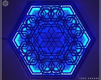 Geometric LED Wall Lamp GOLD & NATURAL