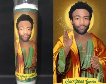 Childish Gambino Devotional Prayer Saint Candle