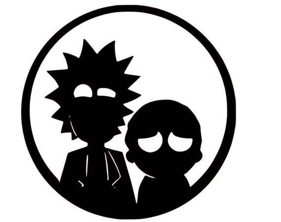 Rick And Morty Rick And Morty Decal Rick And Morty Laptop