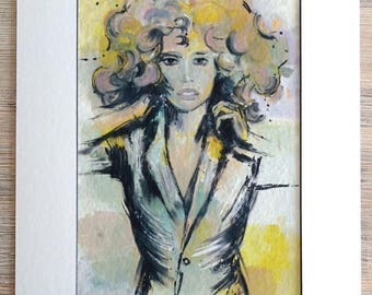 Raquel, art print with Passepartout