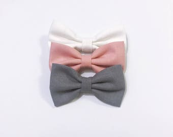 Fabric Bow Clips hairclips headband hair accesories Baby toddler Girls hairclips nylon nude headband newborn kids hairbow accessories