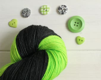Tyrannitar - Pokemon themed hand dyed yarn -  superwash merino sock yarn - fingering weight sock yarn