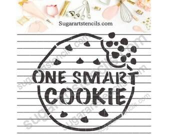 School cookie stencil One smart cookie NB900765