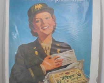 Vintage World War II Whitmans Sampler Magazine Ad