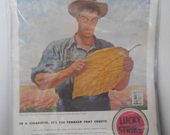 Vintage 1942 Lucky Strike Tabacco Ad
