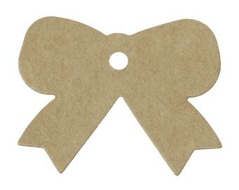 "25 kraft tags ""Knot"" gift carton/paper 5.7 cm"