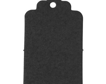 50 labels gift black cardboard/paper 5cm