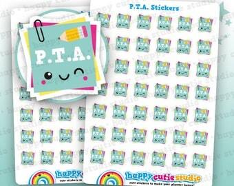 42 Cute PTA/Teacher/College/School Planner Stickers, Filofax, Erin Condren, Happy Planner,  Kawaii, Cute Sticker, UK