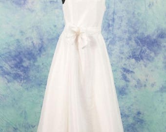 White wedding dress.