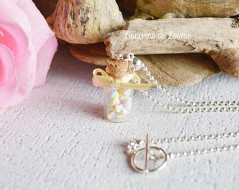 Marshmallow vial necklace / treats