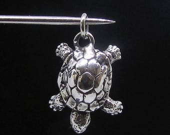 Sterling silver Animal pendant Turtle
