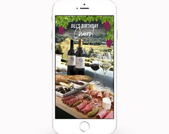 PERSONALIZED Snapchat Wine/Vineyard Geofilter