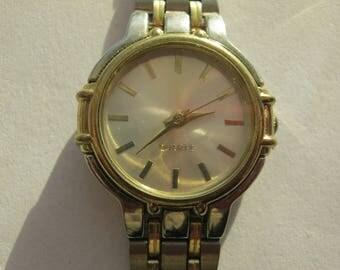 Wristwatch with metal bracelet, ladies watch, quartz, silver color, bracelet length 18 cm, around 1980 Germany