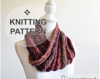 Eclectic Waves Cowl ~ Knitting Pattern
