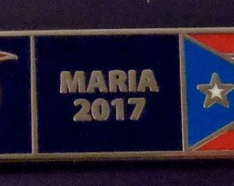 HURRICANE MARIA 2017 Puerto Rican PR Rico Uniform Award/Commendation Bar pin