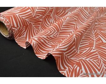 Printed cotton Poplin fabric leaves CYCA2000 x50cm