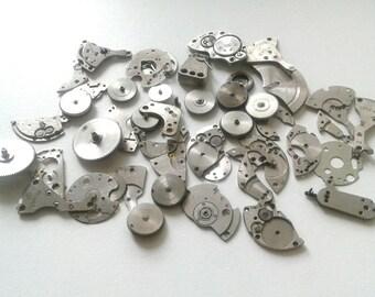 Vintage watch parts Steampunk Craft Supplies 50gms