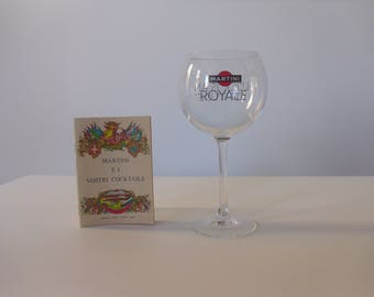 Vintage Martini Royale Glass-Luckis An attitude with cocktail recipes in Italian