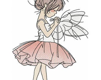 Ballet Girl_Machine Embroidery Design - Embroidery Ballerina  5*7, 6*8, 6*9