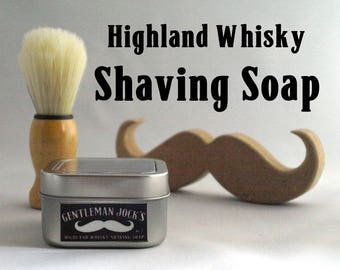 Whisky Shaving Soap Fathers Day Gentleman Jock Moustache Mens Grooming Comb Whiskey Gift Set Male Gent Shaving Natural Facial Hair
