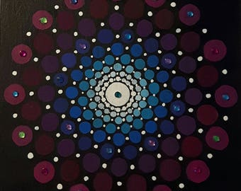 Purple and blue circle pattern