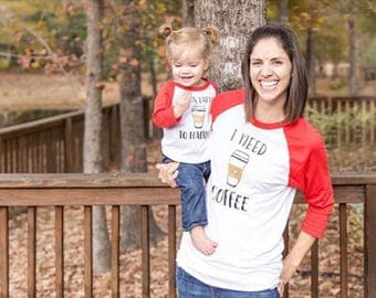 Mommy and Me Outfits, Mommy and Me Shirts, Coffee Shirt Set, Mom and Daughter Shirts, Mom and Daughter Shirts, Christmas Shirts, Funny Shirt