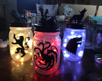 Game of Thrones Jars Small                                         Pint Mason Jars (16oz) 15.00 EACH