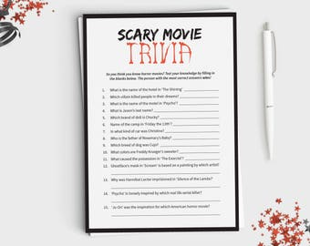 halloween game scary movie trivia fun halloween party game for adults or teens - Halloween Horror Movie Trivia