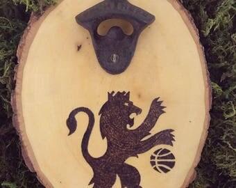 Custom wood burned mounted bottle opener || Sacramento Kings || nba || bottle opener